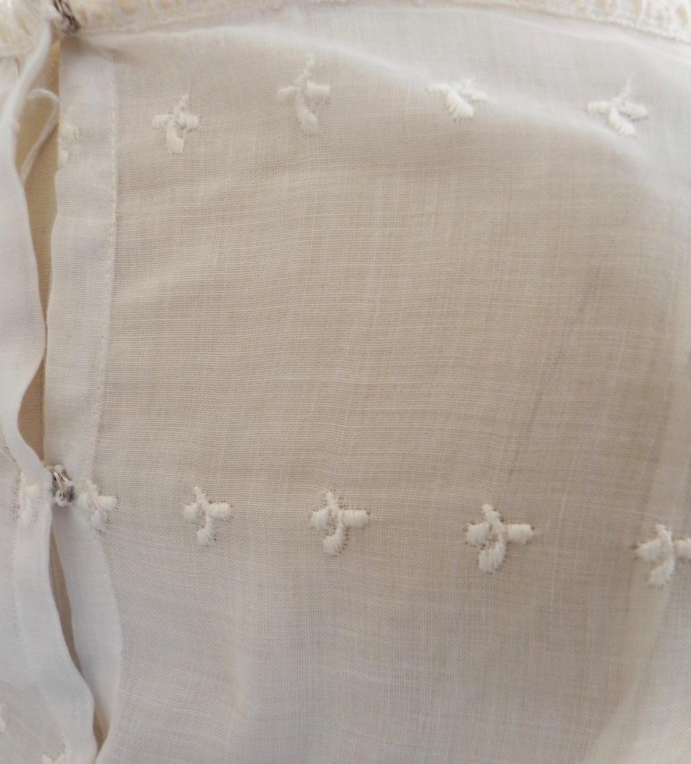 Vintage 1970s Neiman Marcus White Ivory Lace Cotton - 6