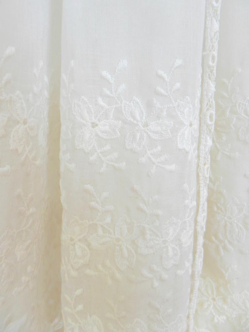 Vintage 1970s Neiman Marcus White Ivory Lace Cotton - 8
