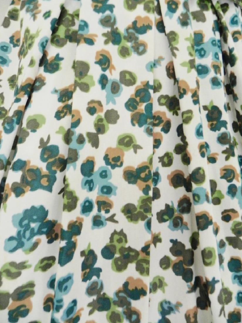 Vintage 1960s Green Floral Swing Dress - 3