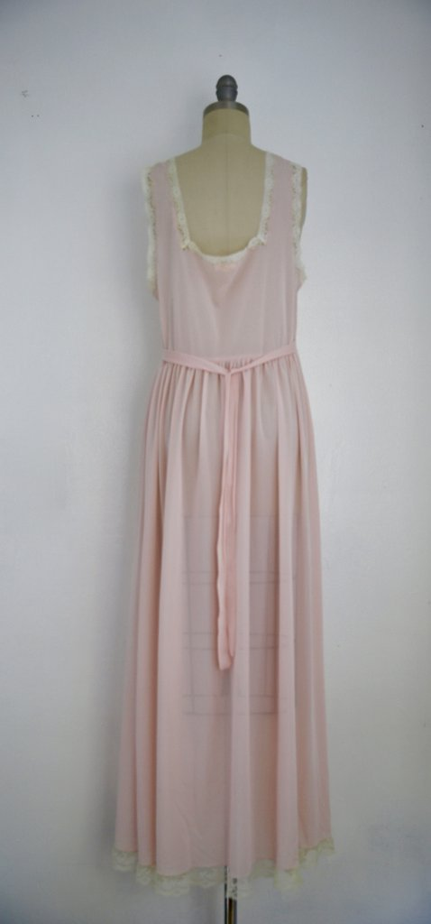 Vintage 1950s Saks Fifth Avenue Lace Pink Nightgown - 4