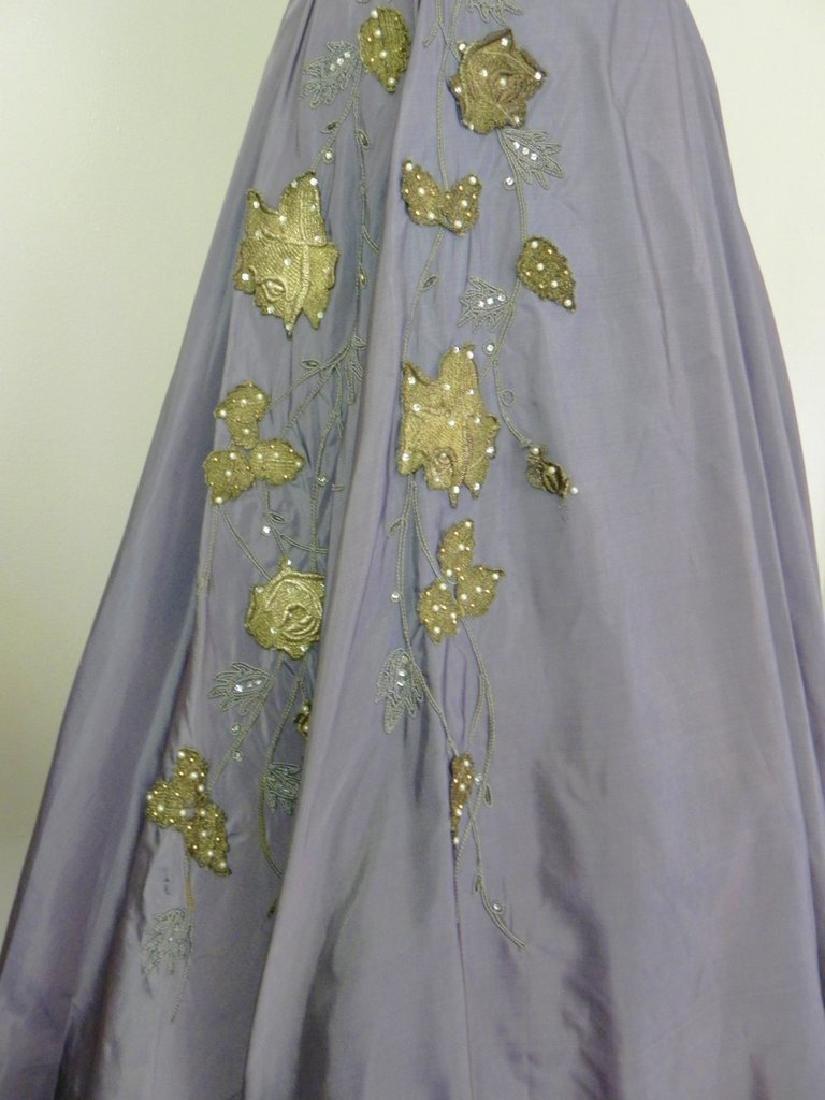 Vintage 1940s-1950s Purple Taffeta Party Dress AS IS - 3