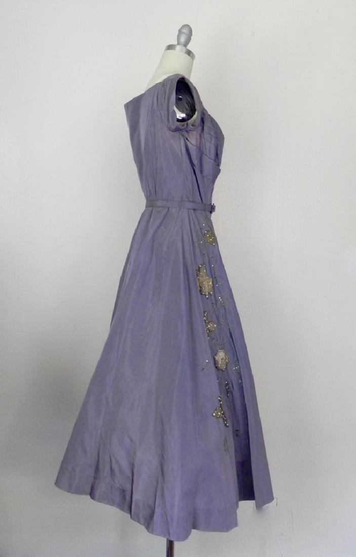 Vintage 1940s-1950s Purple Taffeta Party Dress AS IS - 4