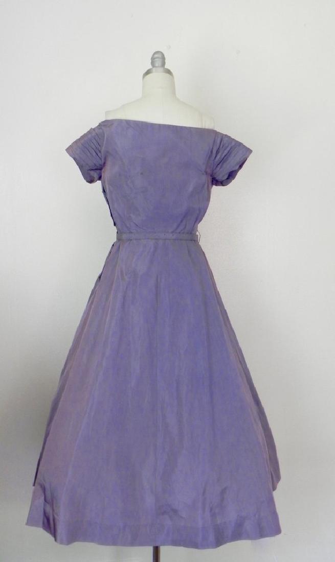 Vintage 1940s-1950s Purple Taffeta Party Dress AS IS - 5