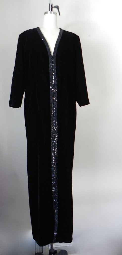 Vintage Yves Saint Laurent  Rive Gauche Black Gown