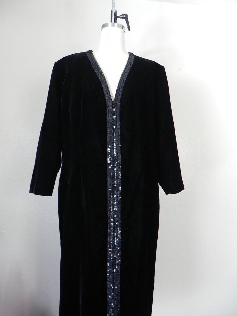 Vintage Yves Saint Laurent  Rive Gauche Black Gown - 2
