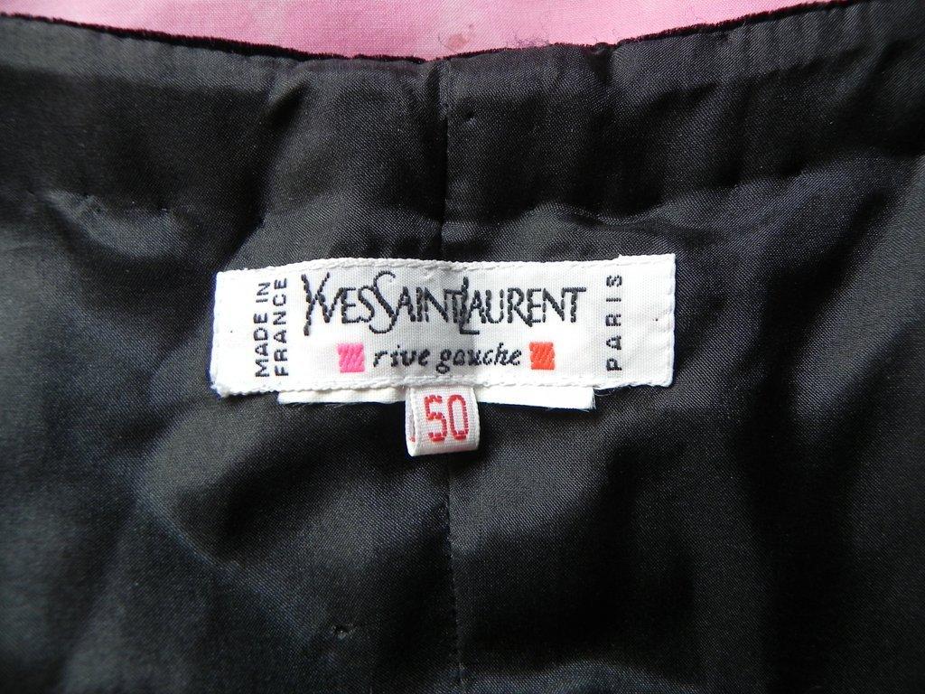 Vintage Yves Saint Laurent  Rive Gauche Black Gown - 5