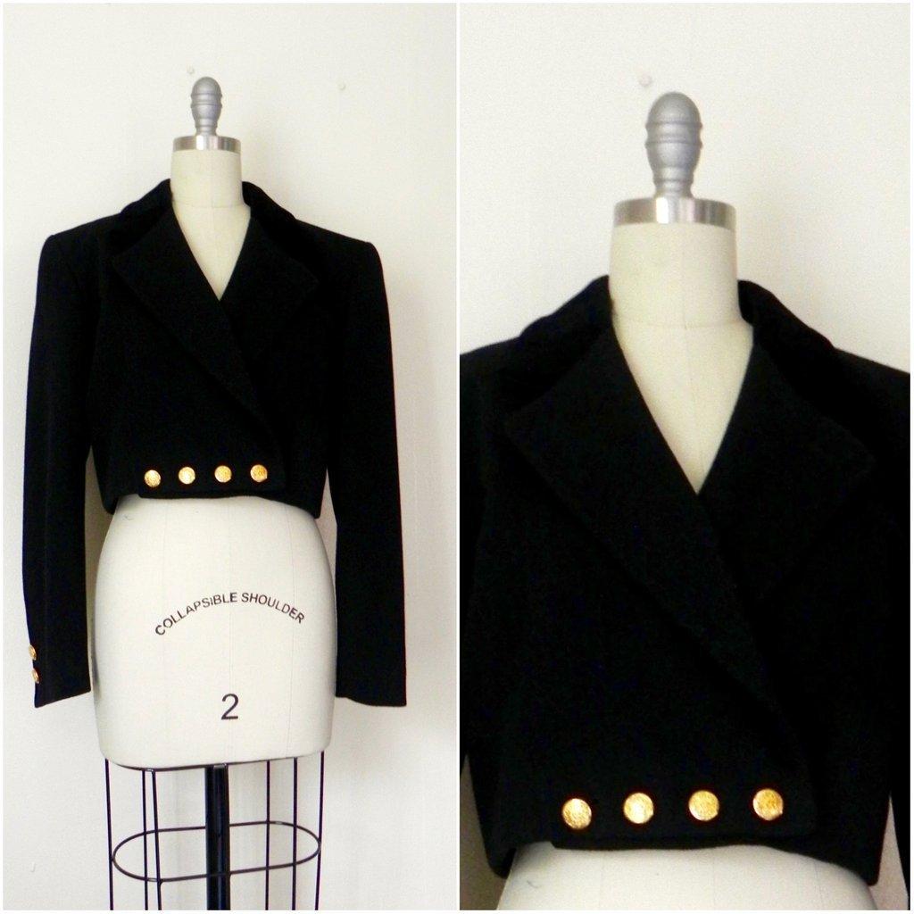 Vintage Inspired Black Escada Blazer