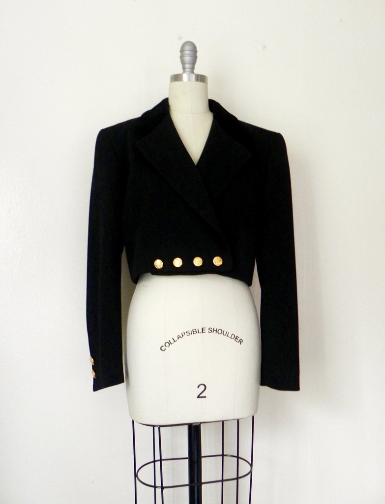 Vintage Inspired Black Escada Blazer - 2