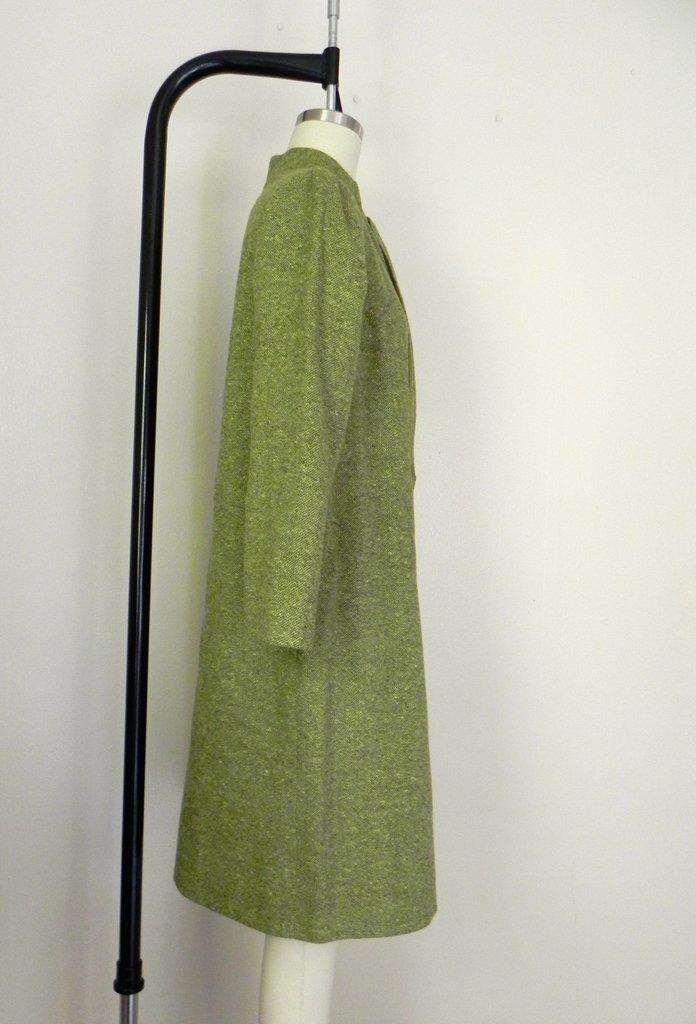Vintage 1960s Couture Green Tweed Dress - 4
