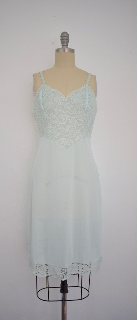 Lot of 6 1960s Baby Blue/ Light Green Nightgowns - 2