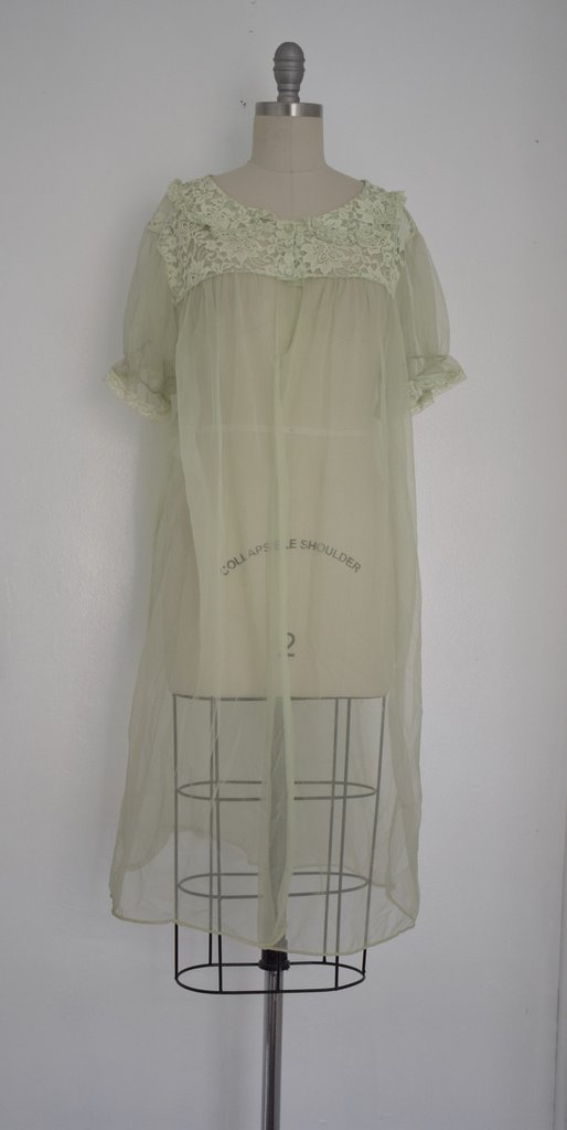 Lot of 6 1960s Baby Blue/ Light Green Nightgowns - 5