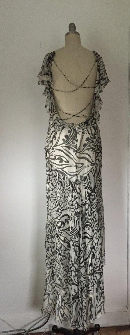 NWT Christian Dior Paris $2395 Ivory Chiffon Silk Dress - 5