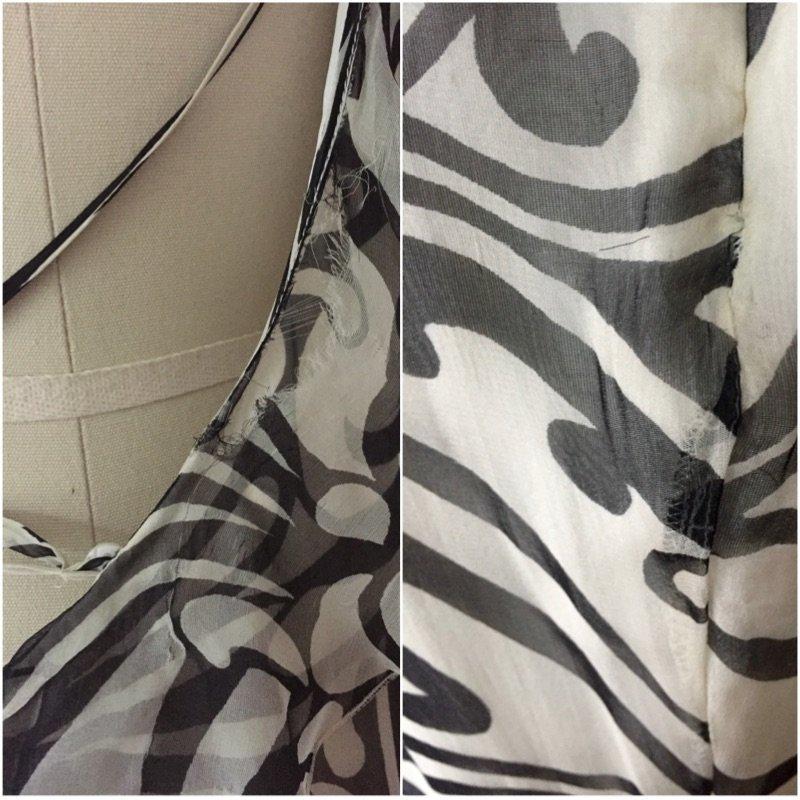 NWT Christian Dior Paris $2395 Ivory Chiffon Silk Dress - 6