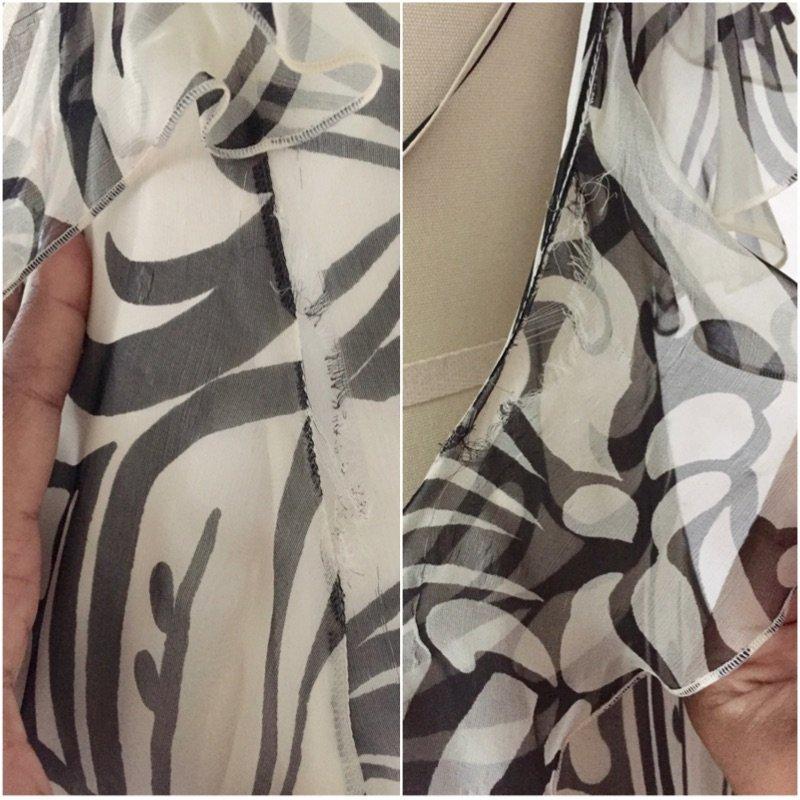NWT Christian Dior Paris $2395 Ivory Chiffon Silk Dress - 7