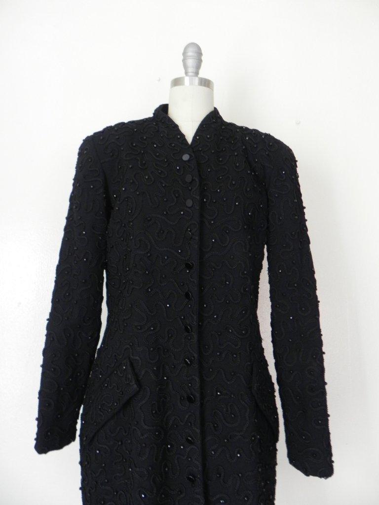 1990s Designer Donna Karen Beaded Jacket - 3