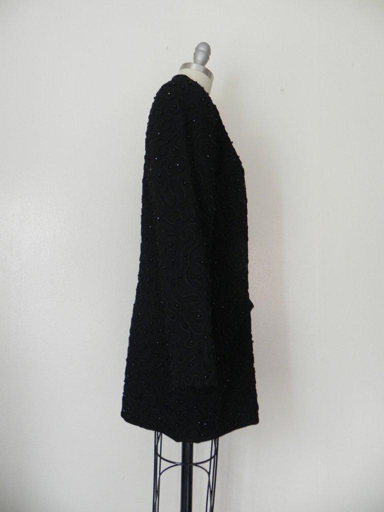 1990s Designer Donna Karen Beaded Jacket - 4