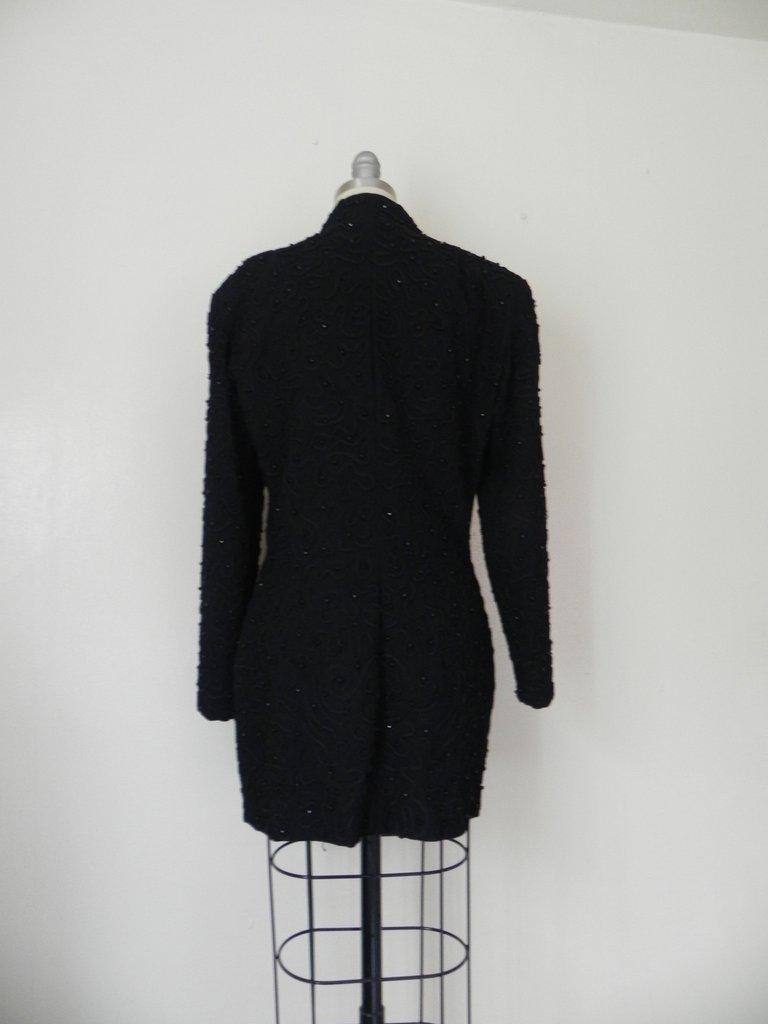 1990s Designer Donna Karen Beaded Jacket - 5