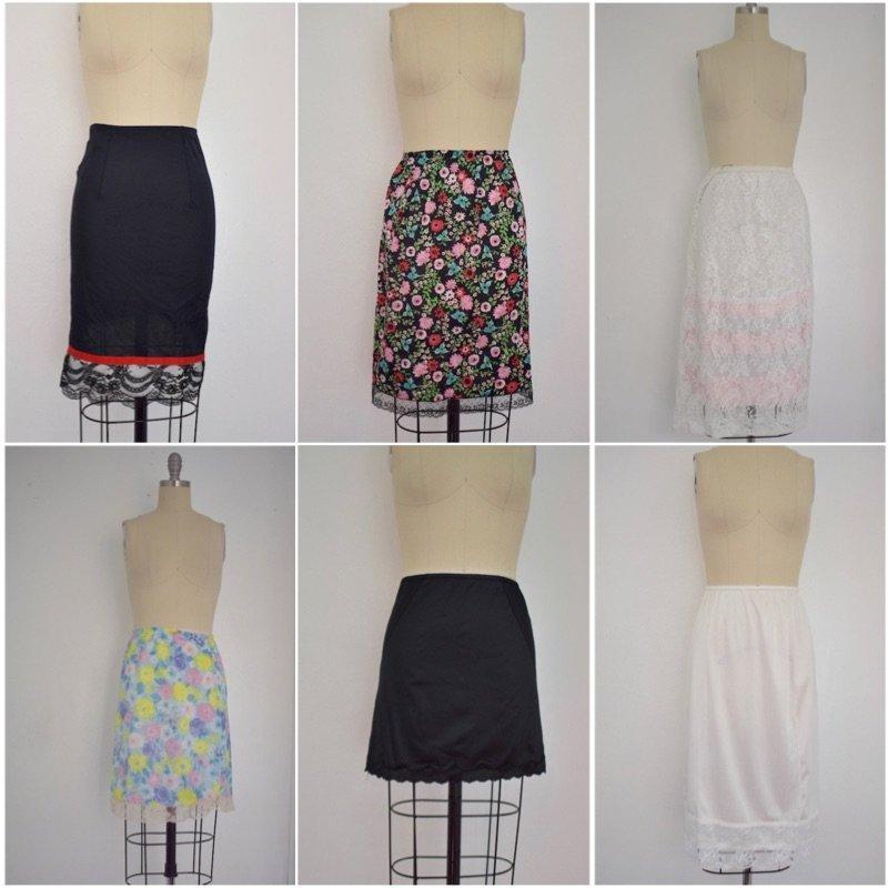 Lot of 6 1950s-1970s Vintage Slips