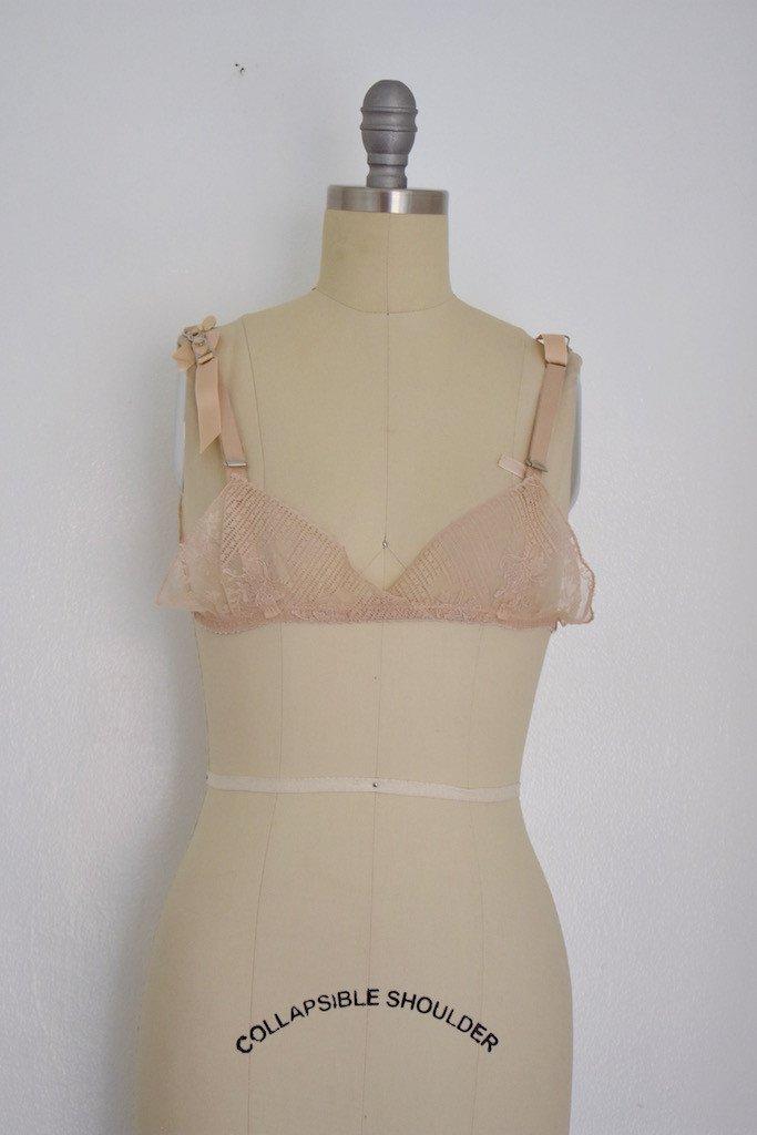 Vintage late 60s Formfit Beige Lace Bra - 2