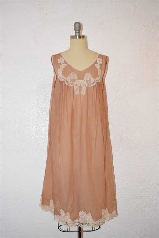 4f7d28647c1 Vintage 1960 Kayser Toupe  Tan Lingerie NightGown