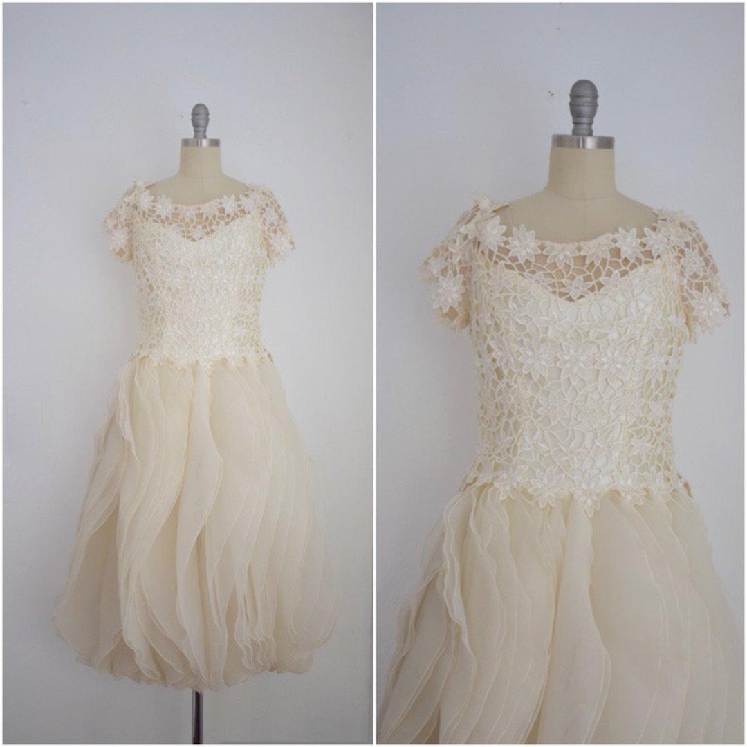 Vintage 1980s House of Bianchi Bridal Dress