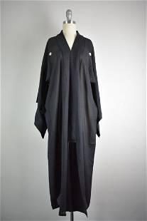 Vintage 1960s Era Handmade Silk Kimono Wrapper OS