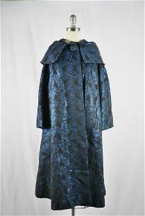 Vintage 1950s Blue Swing Coat