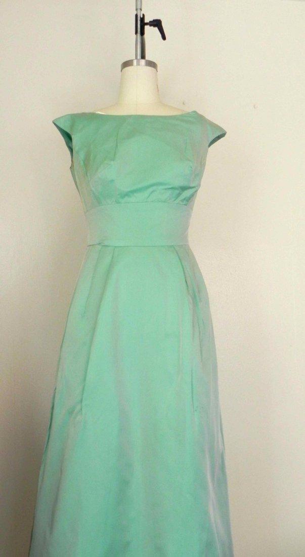 House of Bianchi Mint Green Vintage 1960s Dress