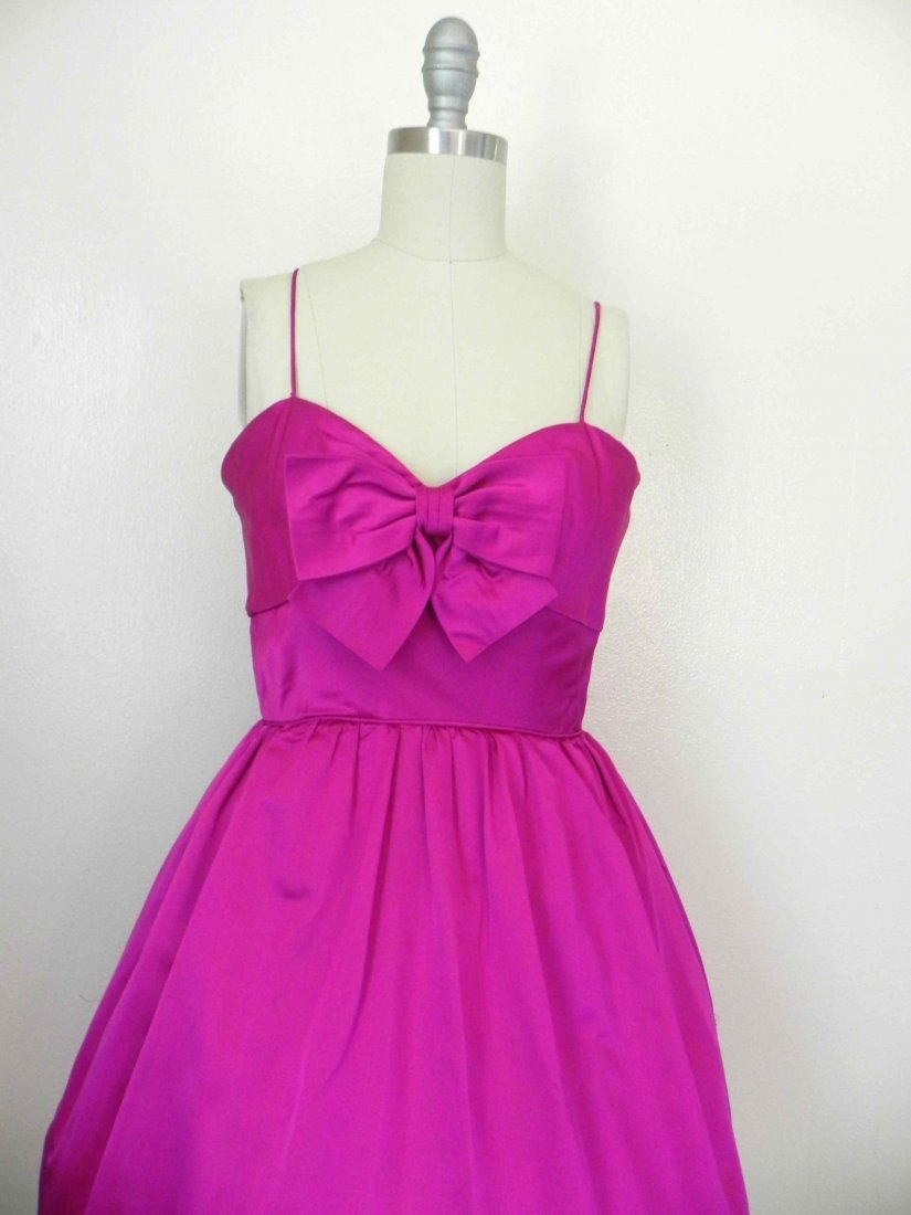 Royal Purple late 1960s Sleeveless Party Dress by