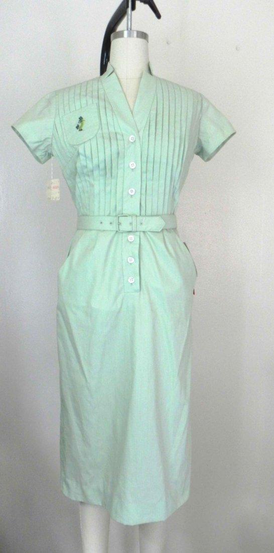 Vintage 1950s Sue Brett Green Junior Dress