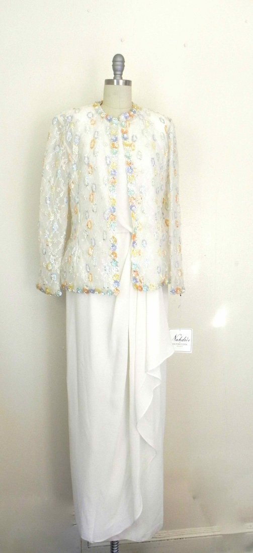 1980s VintageNahdre'e By Victor Costa Sequin Beaded