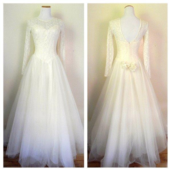 Vintage 1980s Lille Rubin Wedding Dress