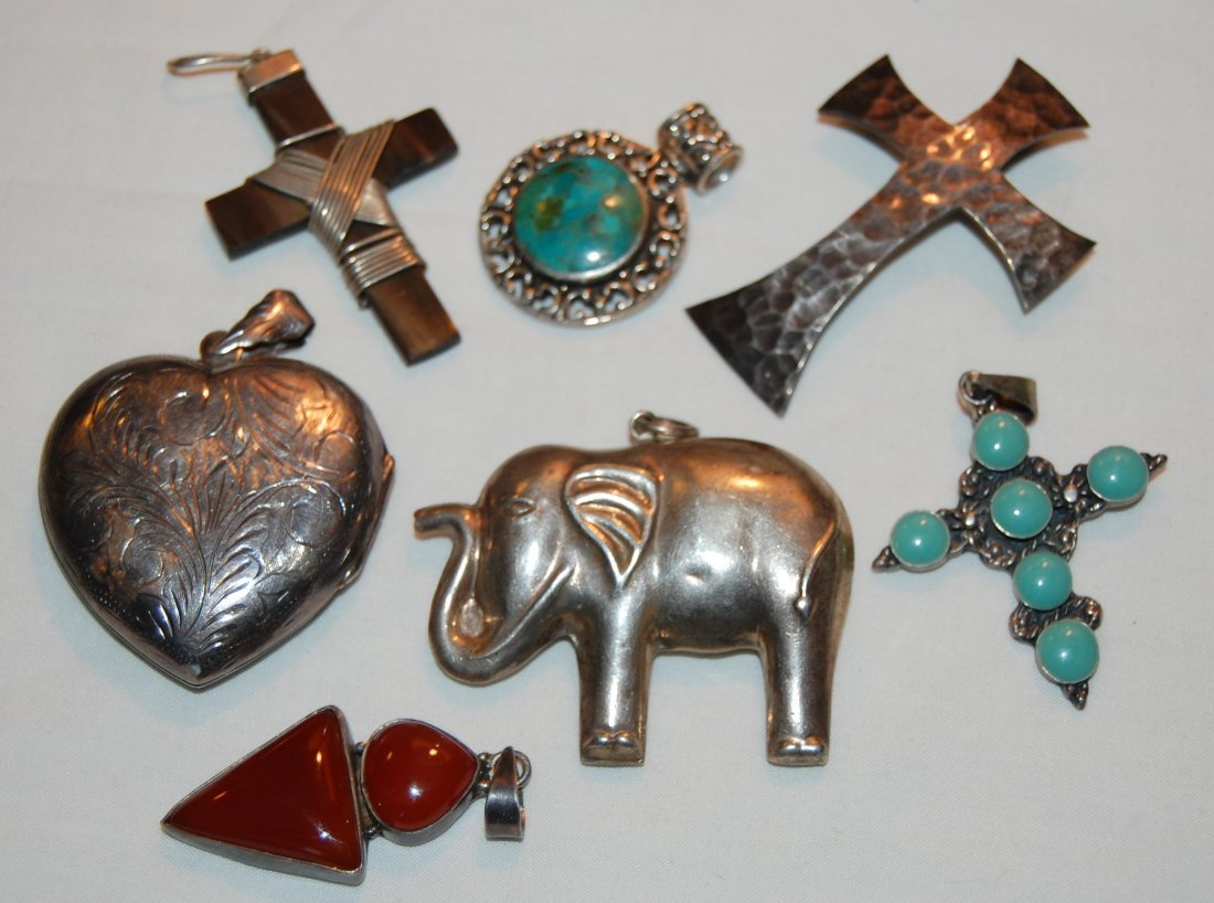Collection 7 Sterling Pendants