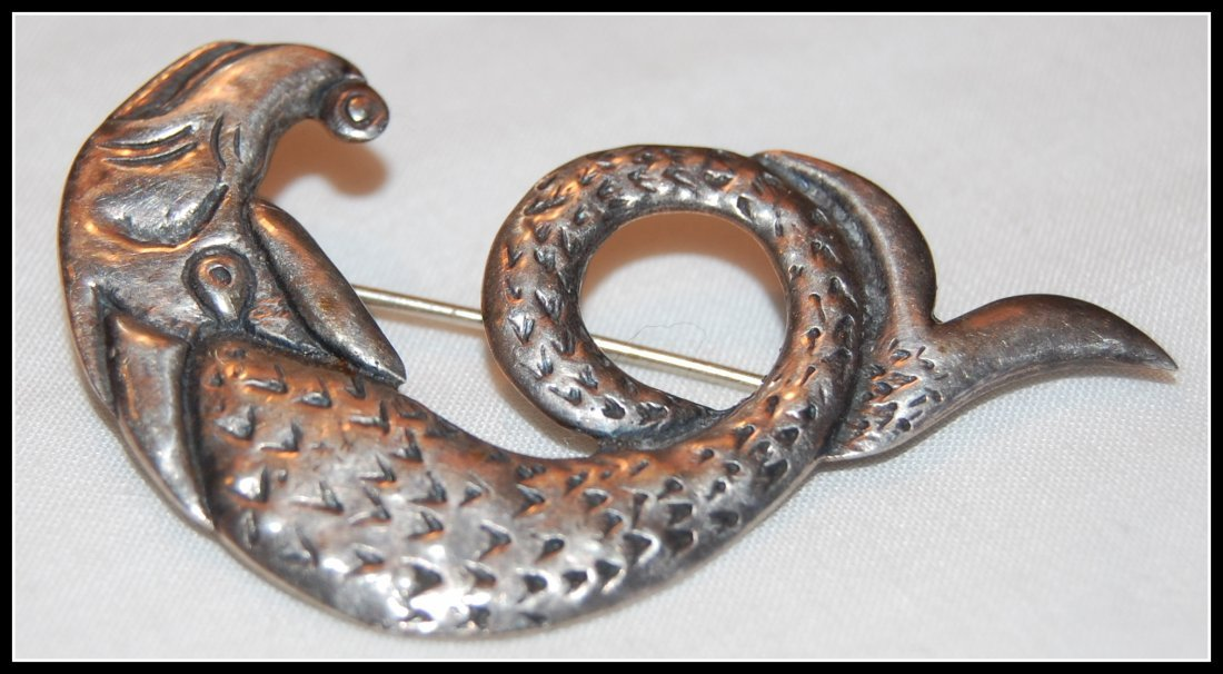CAI Iona Silver Sea Serpent Brooch