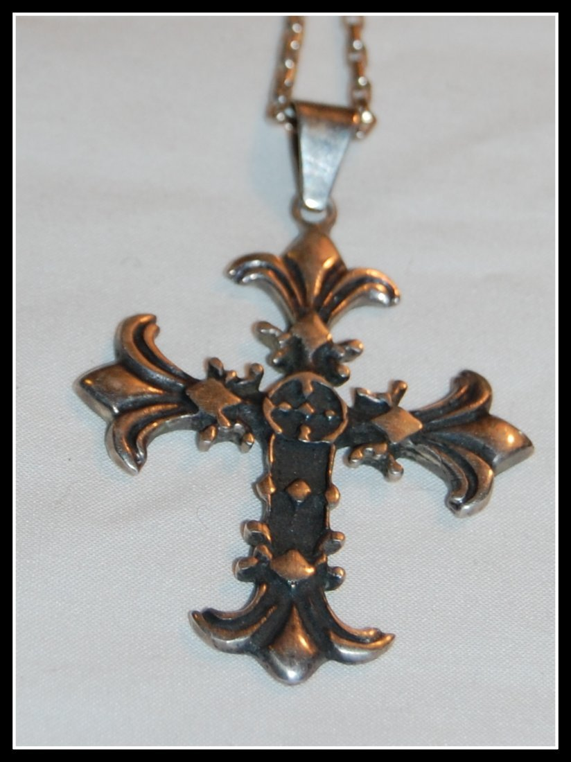 Sterling Gothic Cross HOB