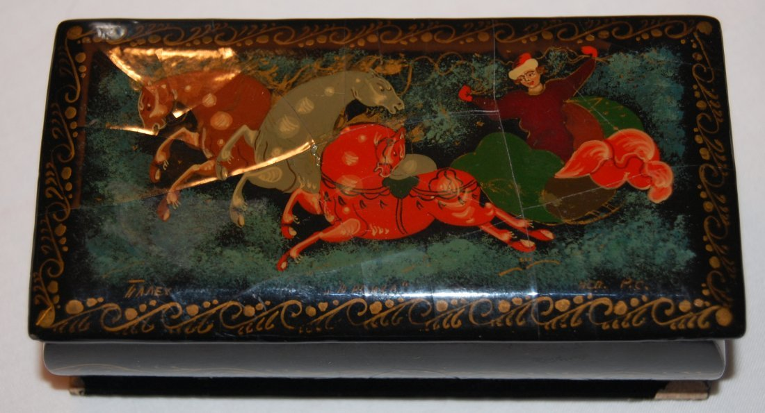 Russian Lacquer Painted Box