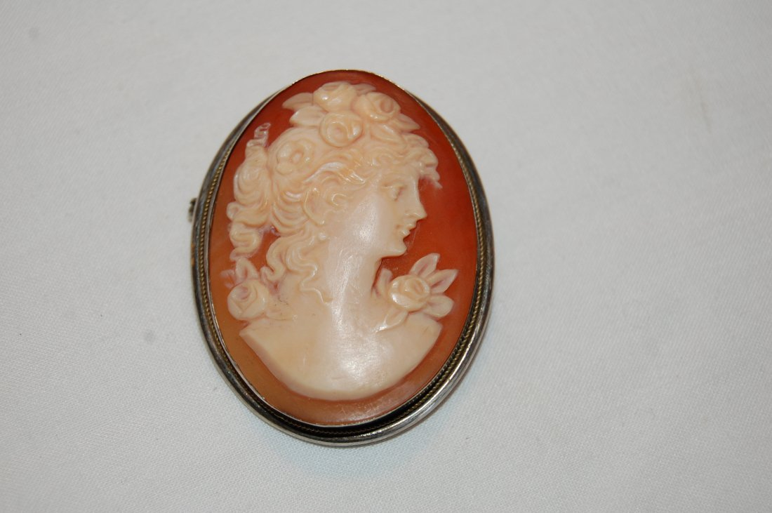 Antique Shell Cameo 800 silver
