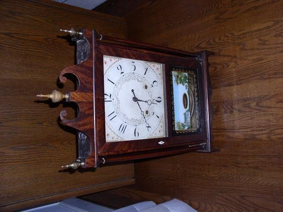 76: Eli Terry & Sons Pillar & Scroll Clock