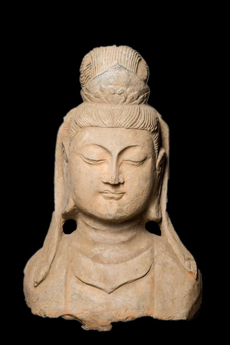 Ming Antique Stone Buddha Head