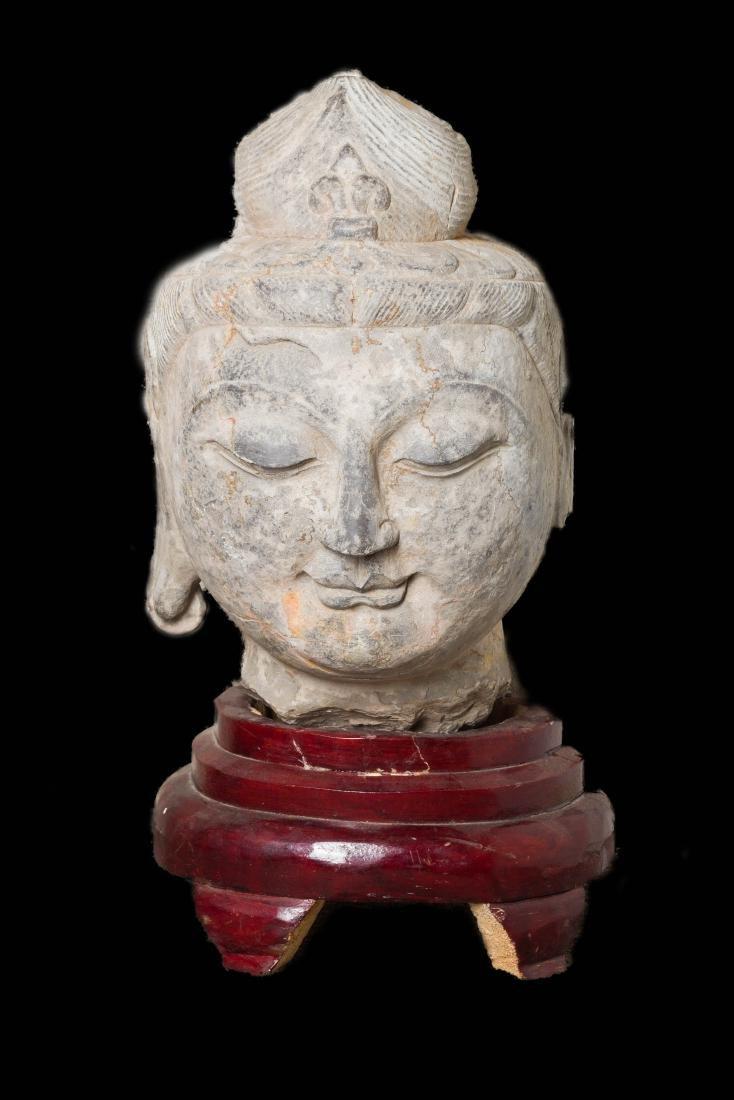 Late Ming Antique Large Buddha Head