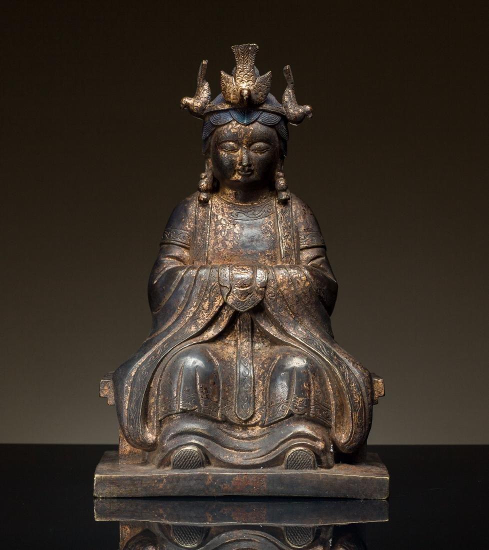Late Ming Antique Bronze Kuanyin