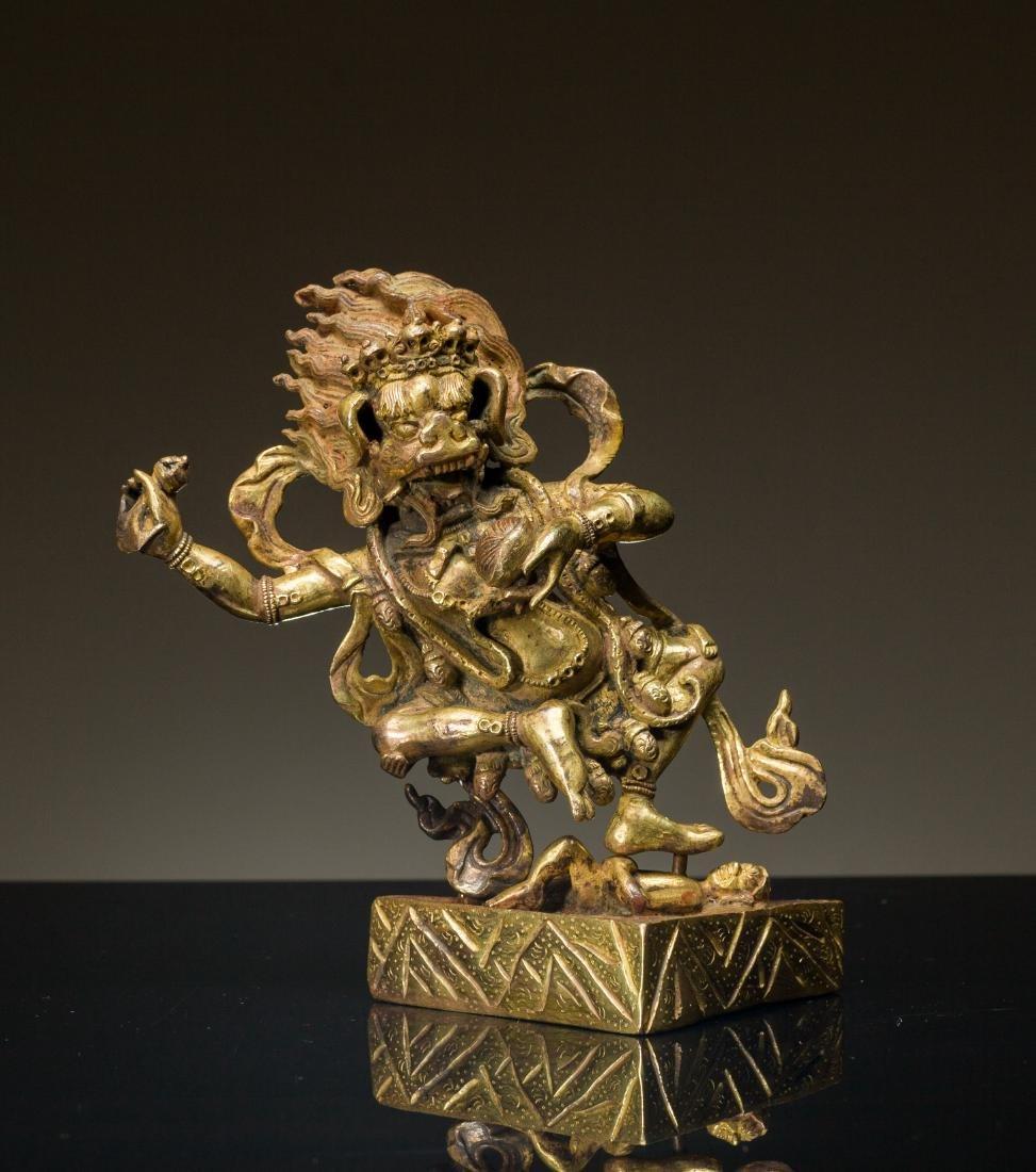 18-19th Antique Gilt Buddha