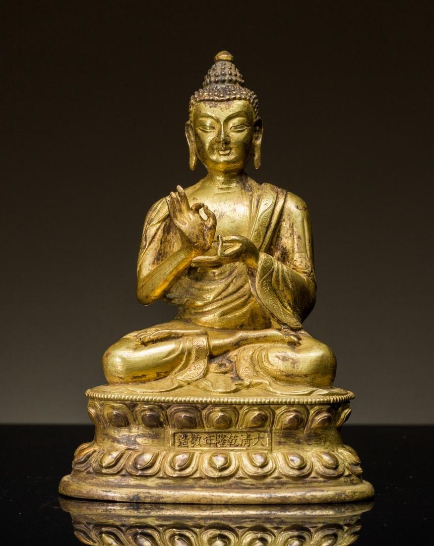 19th Antique Gilt Buddha