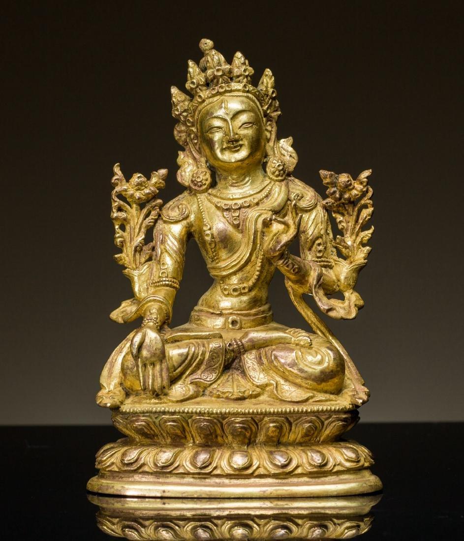 18th Antique Gilt Buddha
