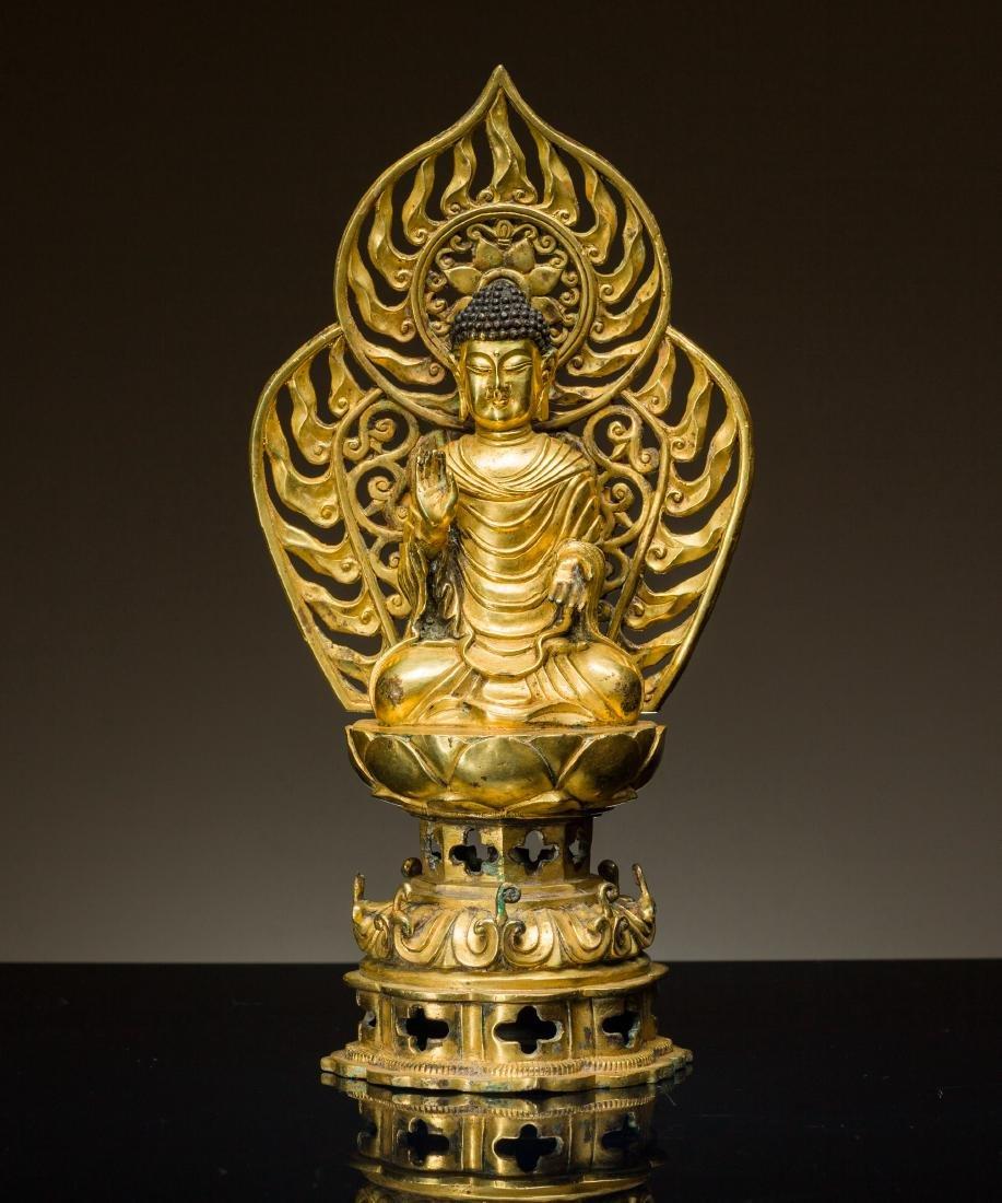 Antique Tang Style Gilt Buddha