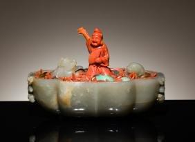 19th Antique Jade Stone Bonsai