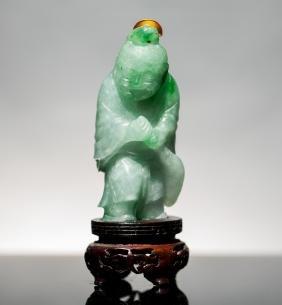 18th Chinese Antique Carved Jade Jadeite Snuff Bottle