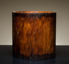 19th Antique Large Huanghuali Brush Pot