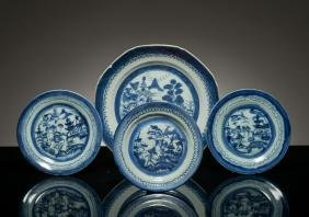 18th Kangxi Period Group Antique Blue&White Export