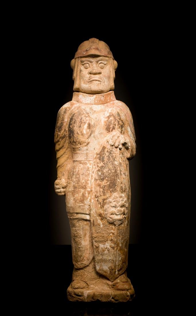 North Qi Antique Pottery Figure